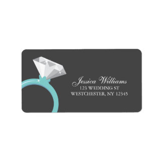 Diamond Ring Personalized Address Label