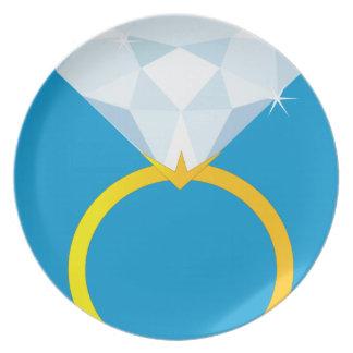 Diamond Ring Melamine Plate