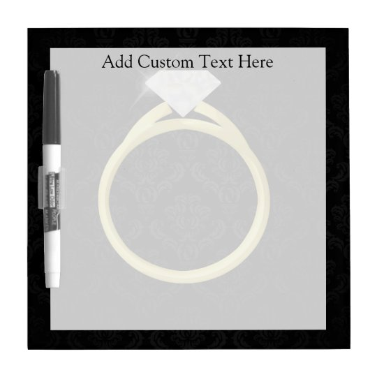 Diamond Ring on Black Dry-Erase Board