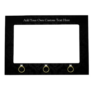 Diamond Ring on Black Magnetic Picture Frames