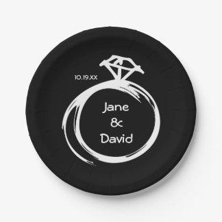 Diamond Ring Paper Plate