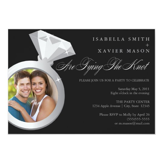 Diamond Ring - Photo | Engagement Party Invite