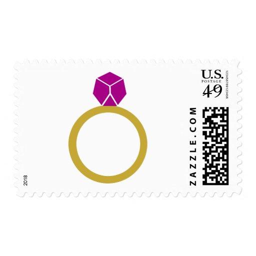 Diamond ring postage stamps