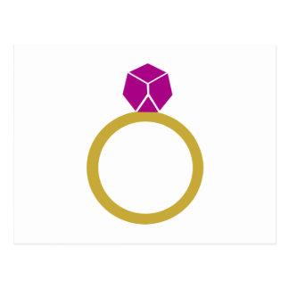 Diamond ring postcard