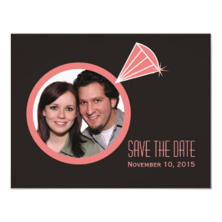 Diamond Ring Save The Date Card