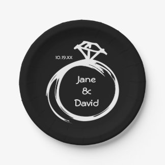 Diamond Ring 7 Inch Paper Plate