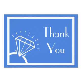 Diamond Ring Silhouette Thank You (Royal Blue) Card