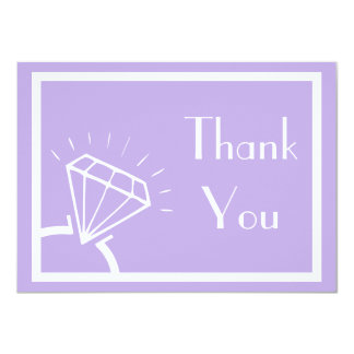 Diamond Ring Silhouette Thank You (Violet Purple) Card