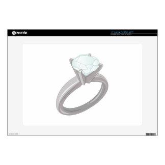 "Diamond Ring Skin For 15"" Laptop"