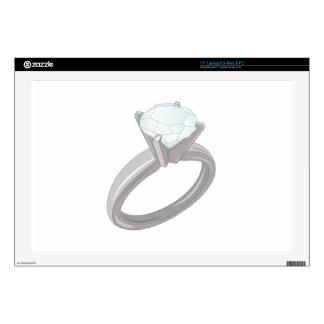"Diamond Ring Skin For 17"" Laptop"