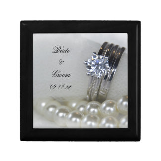 Diamond Rings and Pearls Wedding Gift Box