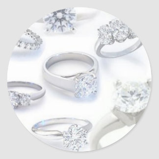 Diamond Rings Classic Round Sticker