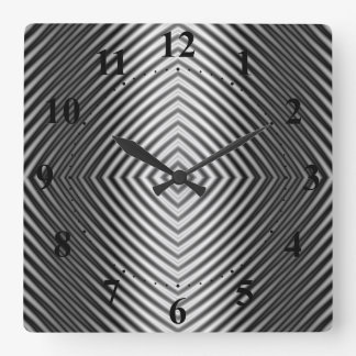 Diamond Ripples Square Wall Clock