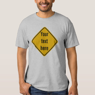 Diamond Road Sign Template T-Shirt