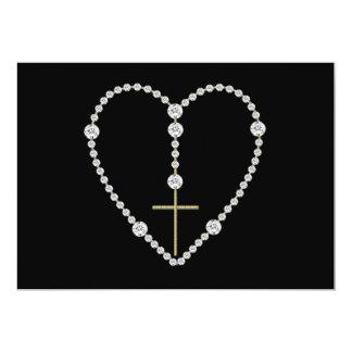 Diamond Rosary - Hail Mary Full of Grace Card