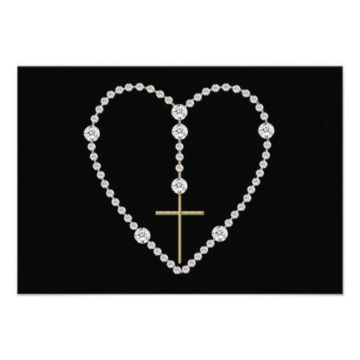 Diamond Rosary - Hail Mary Full of Grace Invite