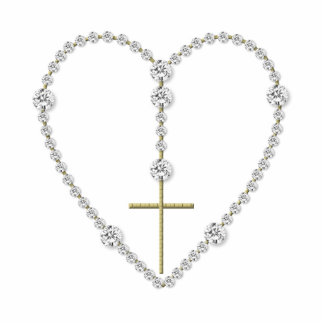 Diamond Rosary - Hail Mary Full of Grace Standing Photo Sculpture