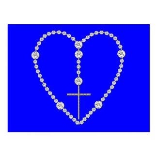 Diamond Rosary - Hail Mary Full of Grace Postcard