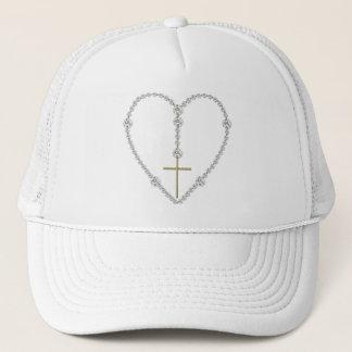 Diamond Rosary - Hail Mary Full of Grace Trucker Hat