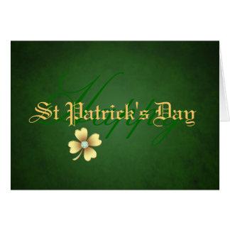 Diamond Shamrock St Patrick's Day Card
