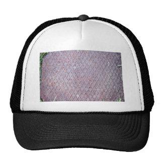 Diamond Shaped Metal Texture Trucker Hat