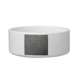 Diamond shaped metal texture cat food bowl