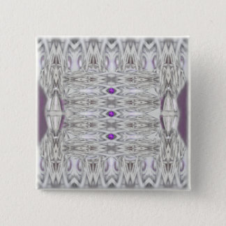 Diamond Shapes in Black and White with Purple Button