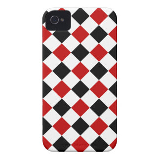 Diamond Shapes, Red and Black iPhone 4/4s Case