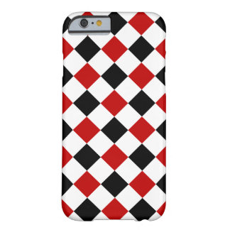 Diamond Shapes, Red and Black iPhone 6 Case