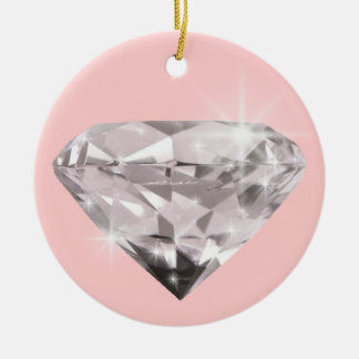 Diamond  shine adorn Double-Sided ceramic round christmas ornament