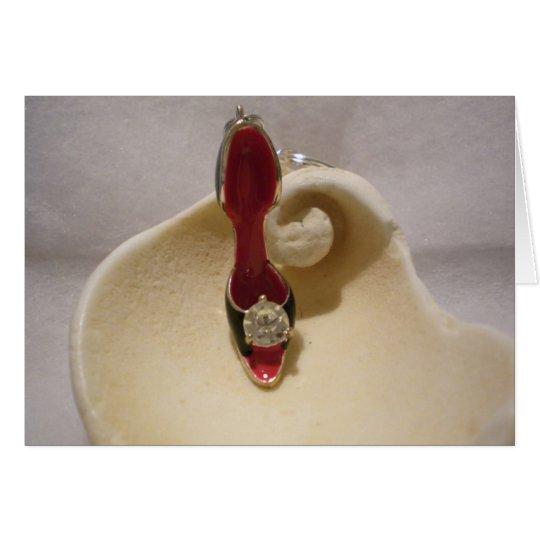 Diamond Shoe on Sea Shell Card