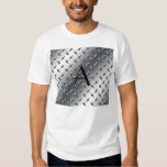 Diamond silver plate steel monogram shirt