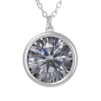Diamond Silver Plated Necklace