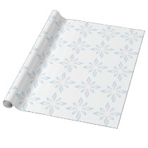 Diamond Snowflake Holiday Wrapping Paper