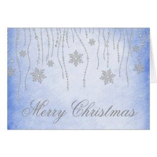 Diamond Snowflakes Christmas Holiday Greeting Card