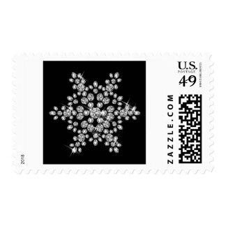 Diamond Snowflakes Postage