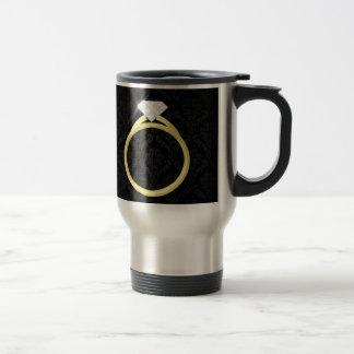 Diamond Solitaire Ring 15 Oz Stainless Steel Travel Mug