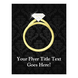 """Diamond Solitaire Ring 8.5"""" X 11"""" Flyer"""