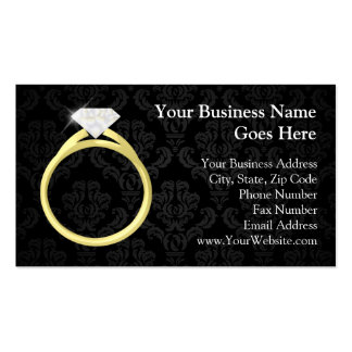 Diamond Solitaire Ring Double-Sided Standard Business Cards (Pack Of 100)