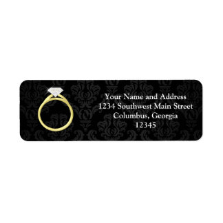 Diamond Solitaire Ring Label