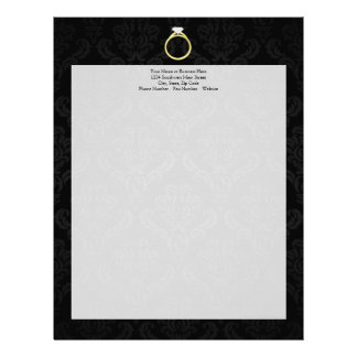 Diamond Solitaire Ring Letterhead