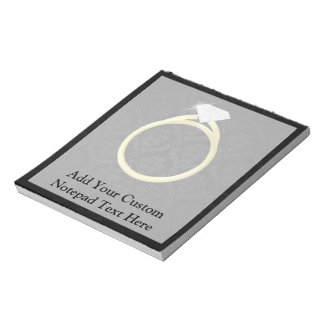 Diamond Solitaire Ring Notepad