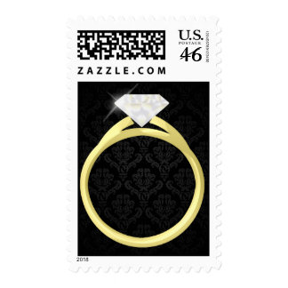 Diamond Solitaire Ring Postage Stamps