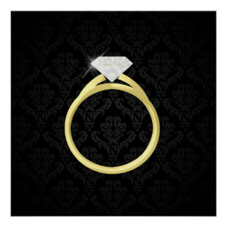 Diamond Solitaire Ring Poster