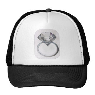 DIAMOND SOLITAIRE SOFT GRAY SKETCH PRINT TRUCKER HAT