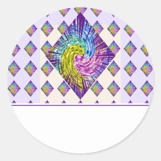 DIAMOND Sparkle Pattern Classic Round Sticker