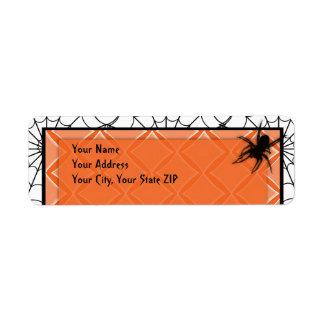 Diamond Spider Web Halloween Address Label