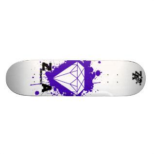 Diamond Splat Splat Skateboard at Zazzle