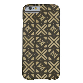 Diamond square modern tribal print Gold Barely There iPhone 6 Case