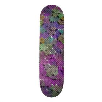 Diamond square pattern design by James Black Skateboard Deck